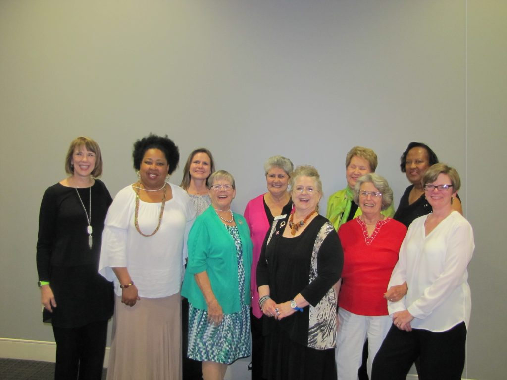 Gayna DuPont, Freda Bryson, Traci Jensen, Gloria Long, Ginny Phoenix, Pam Wolfe, Brenda Moss, Dixie Christian, Barbara Cager and Kinta Parker.